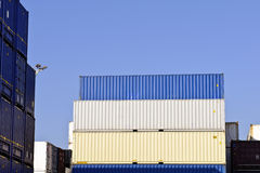 Colorful cargo containers Royalty Free Stock Image