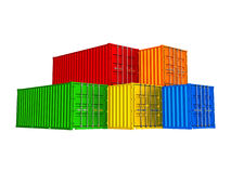 Colorful cargo containers Royalty Free Stock Photos