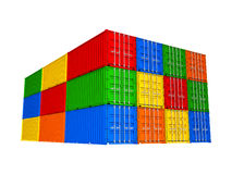 Colorful cargo containers Stock Photo