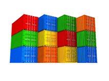 Colorful cargo containers Stock Image