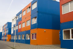 Colorful cargo containers used as houses Royalty Free Stock Photos