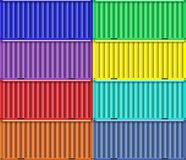 Colorful cargo shipping containers. Stock Photography