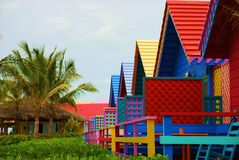 Colorful Caribbean houses. In the Bahamas Royalty Free Stock Photography