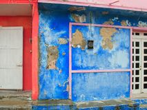 Colorful Caribbean houses tropical Isla Mujeres Royalty Free Stock Photos