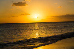 Colorful caribbean sunset Royalty Free Stock Photography