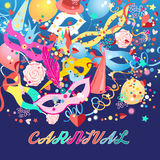 Colorful carnival background Royalty Free Stock Images