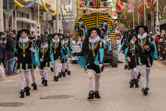 Colorful Carnival Carnaval Parade festival participants Royalty Free Stock Image