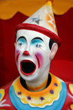 Colorful carnival clown. With it's mouth open Stock Images