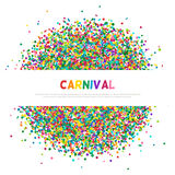 Colorful carnival confetti greeting card Stock Image