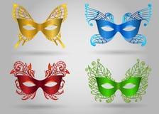 Colorful Carnival Mask Set Stock Photo