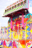 Colorful Carnival Ride. Before the midway opens for the day royalty free stock images