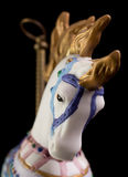 Colorful Carousel Horse. Isolated on black background Stock Photography