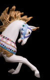 Colorful Carousel Horse. Isolated on black background Stock Images