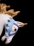 Colorful Carousel Horse. Isolated on black background Royalty Free Stock Photography