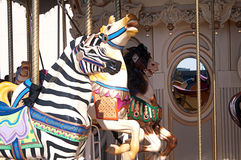 Colorful Carousel Horses Royalty Free Stock Photography