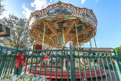 Colorful beautiful Carousel Park Circus Carnival Festival royalty free stock photography