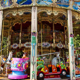 Colorful Carousel or Merry-Go-Round Stock Photos