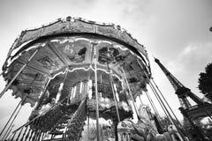Colorful Carousel in Paris Stock Image