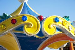 Attractions in the amusement park Royalty Free Stock Images
