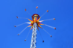 Colorful carousel in the sky Stock Photos