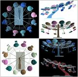 Colorful Carousel Vector Royalty Free Stock Image