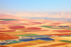 Colorful carpet of agriculture Stock Photos