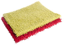 Colorful carpet or doormat for cleaning feet. Carpet or doormat on background Stock Images