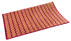 Colorful carpet or doormat for cleaning feet. Carpet or doormat on background Stock Photos