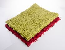 Colorful carpet or doormat for cleaning feet. Carpet or doormat on background Royalty Free Stock Photography