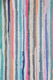 Colorful carpet with pattern in line. Textiles background Stock Photo