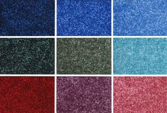 Colorful carpet samples royalty free stock image