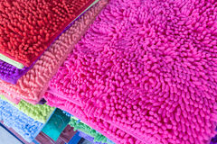 Colorful carpet softness texture of doormat Stock Images