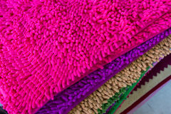 Colorful carpet softness texture of doormat Stock Photography
