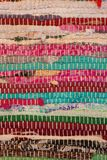 Colorful carpet texture. Background of andalusian carpet. Jarapa. Royalty Free Stock Images