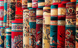 Colorful carpets Stock Photos