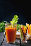 Colorful carrots and juice Stock Photo