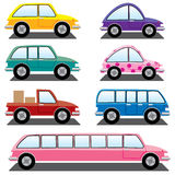 Colorful cars royalty free illustration