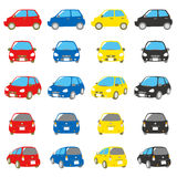 Colorful cars set Stock Photography