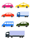 Colorful cars set Stock Photo