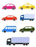 Colorful cars set Stock Photo