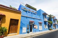 Colorful Cartagena buildings. stock image