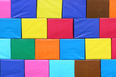Colorful of cartons paper box to stacked. Stock Photos