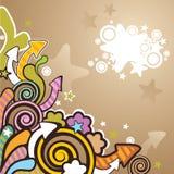 Colorful cartoon background Stock Image