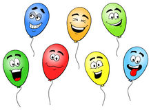 Colorful cartoon balloons Stock Image