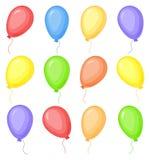Colorful cartoon balloons Stock Photos