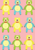 Colorful cartoon bears Stock Photography