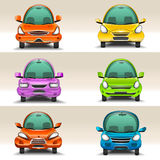 Colorful cartoon cars Royalty Free Stock Images