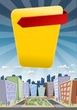 Colorful cartoon city Stock Photo