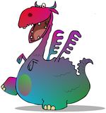 Colorful cartoon dragon Stock Photo
