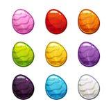 Colorful cartoon eggs set. Royalty Free Stock Image